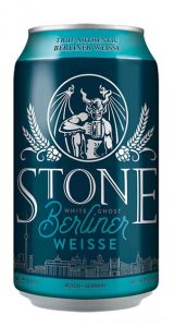 Stone Berliner Weisse can shot Brew Haus Malta