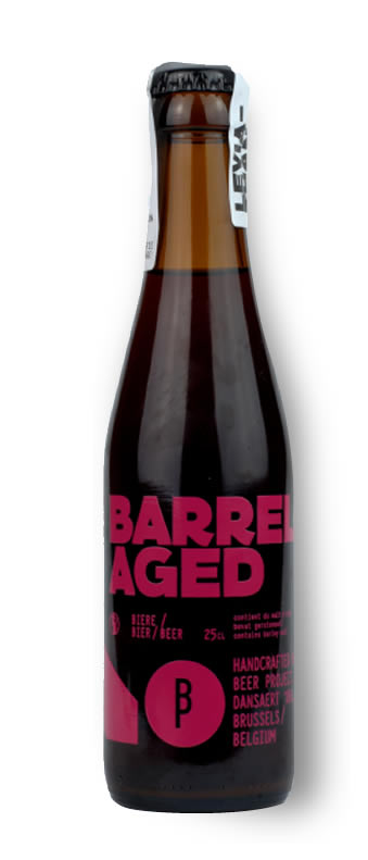 Minautore Barrel aged imperial red ale bottle shot