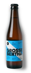 Grosse Bertha Belgian style wheat beer bottle shot Brew Haus Malta