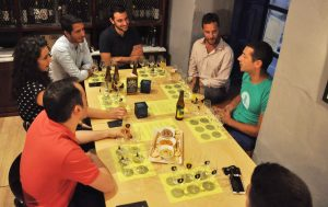 group discussion during beer tasting